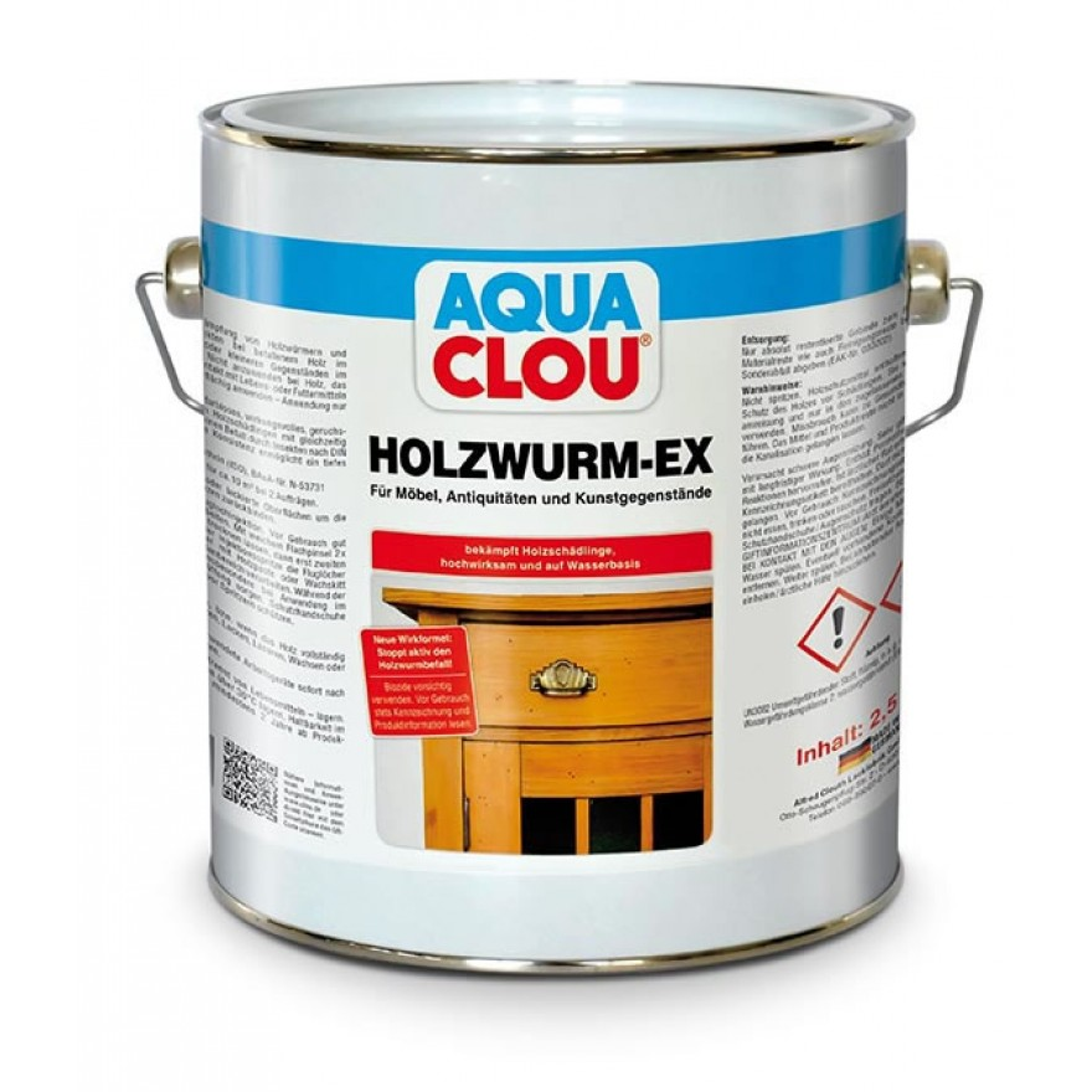 aqua clou holzwurm ex holzzerst rende insektenlarven wie holzwurm hausbock. Black Bedroom Furniture Sets. Home Design Ideas